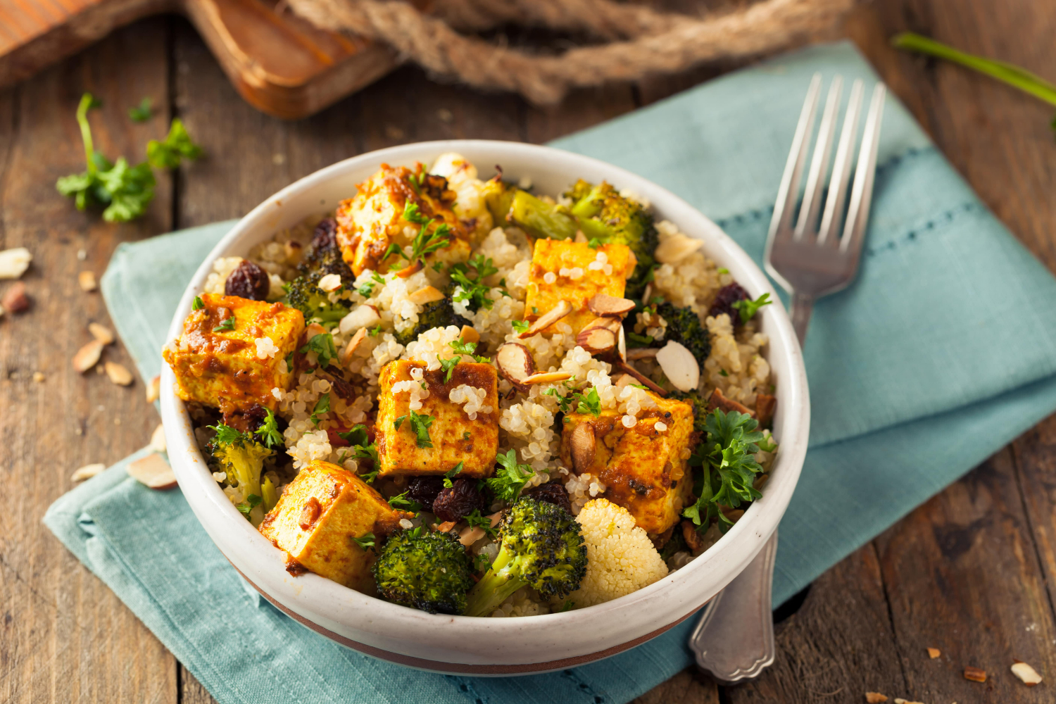 Couscous with Tofu and Vegetables