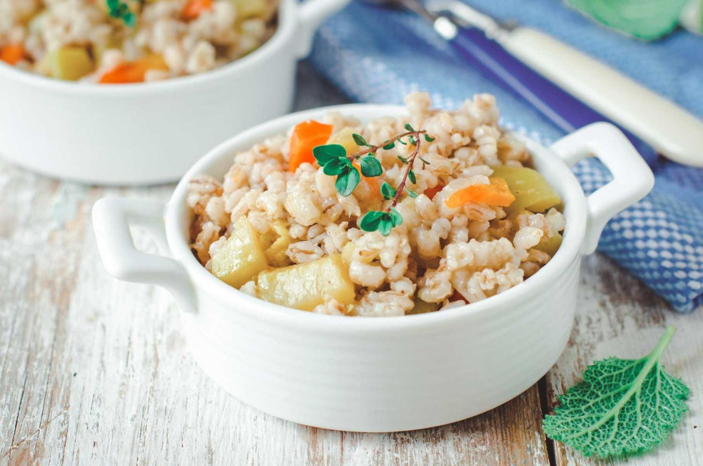 Barley-pumpkin porridge